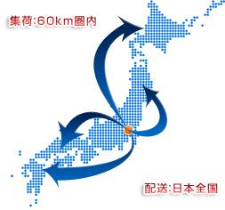 集荷:久喜60km県内、配送は全国!【対応エリア】